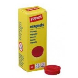 Round Magnets Flat 25mm Red...