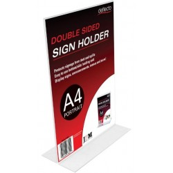 Menu/Sign Holder A4 Double...