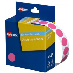 Avery Pink Circle Dispenser...