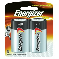 Energizer Max Battery D Pack 2