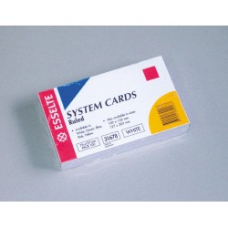 Esselte System Cards Ruled...