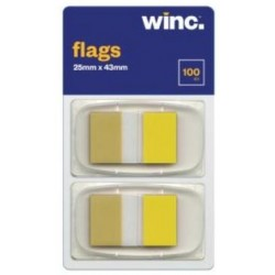 Winc Flags 25 x 43mm Yellow...